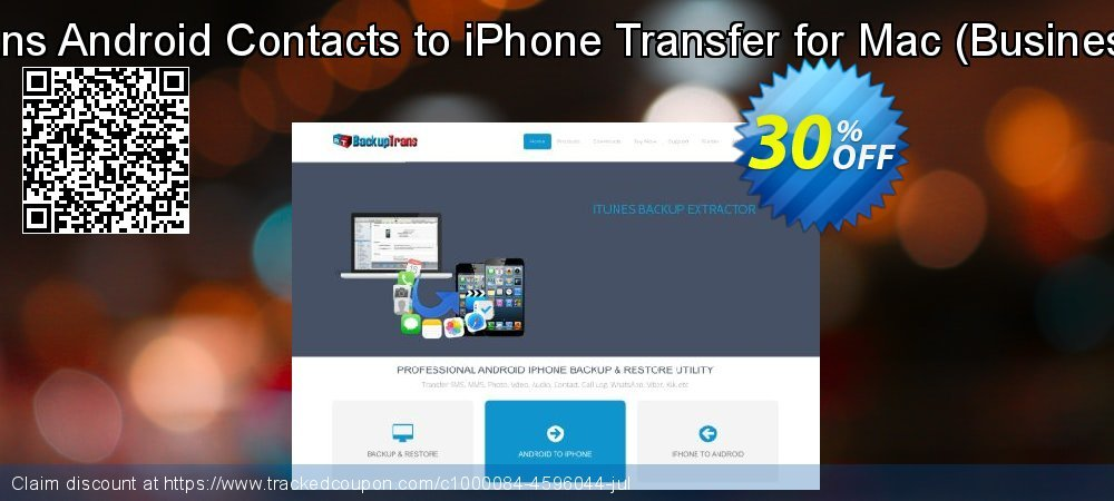 Backuptrans Android Contacts to iPhone Transfer for Mac - Business Edition  coupon on Xmas Day deals