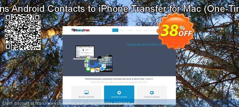 Backuptrans Android Contacts to iPhone Transfer for Mac - One-Time Usage  coupon on Easter Sunday discount