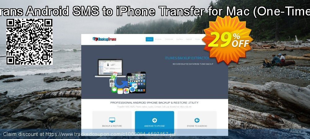 Backuptrans Android SMS to iPhone Transfer for Mac - One-Time Usage  coupon on Easter Sunday promotions
