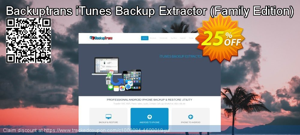Backuptrans iTunes Backup Extractor - Family Edition  coupon on Spring promotions