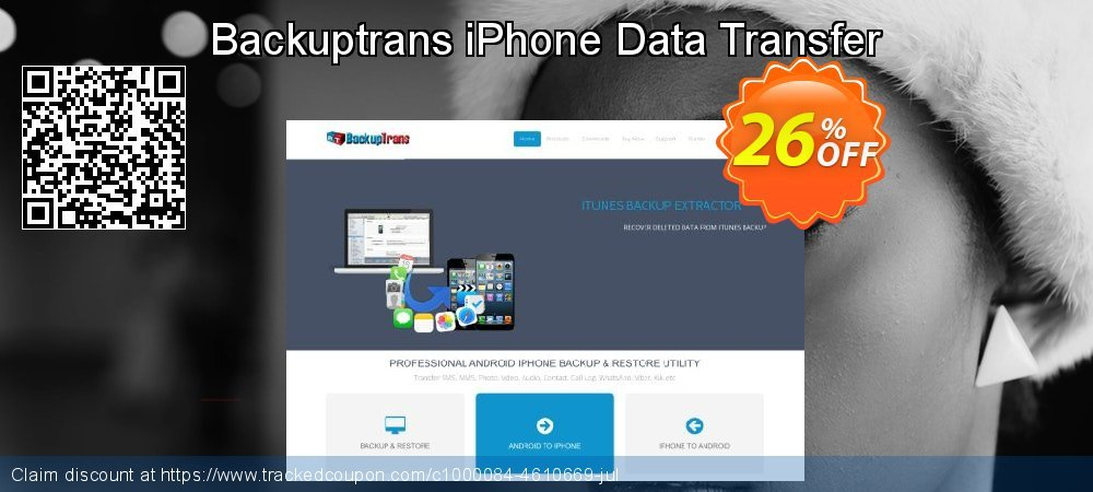 Backuptrans iPhone Data Transfer coupon on Easter Sunday offer