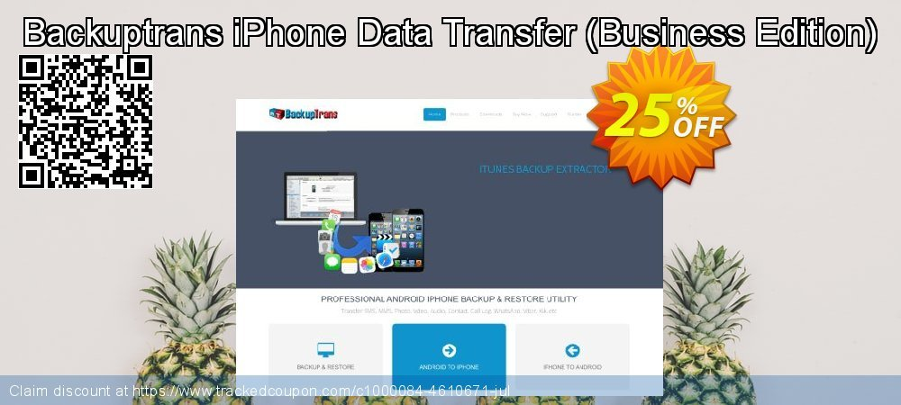 Backuptrans iPhone Data Transfer - Business Edition  coupon on Black Friday offer