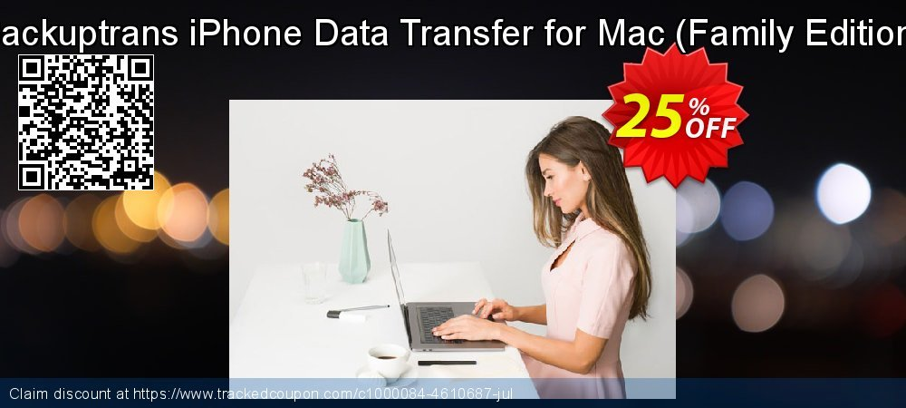 Backuptrans iPhone Data Transfer for Mac - Family Edition  coupon on Black Friday sales