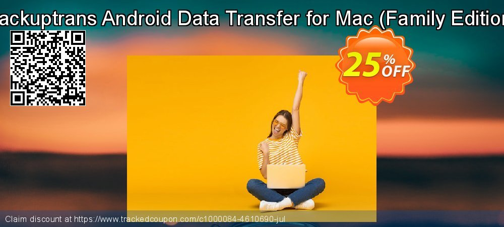 Backuptrans Android Data Transfer for Mac - Family Edition  coupon on Thanksgiving discount