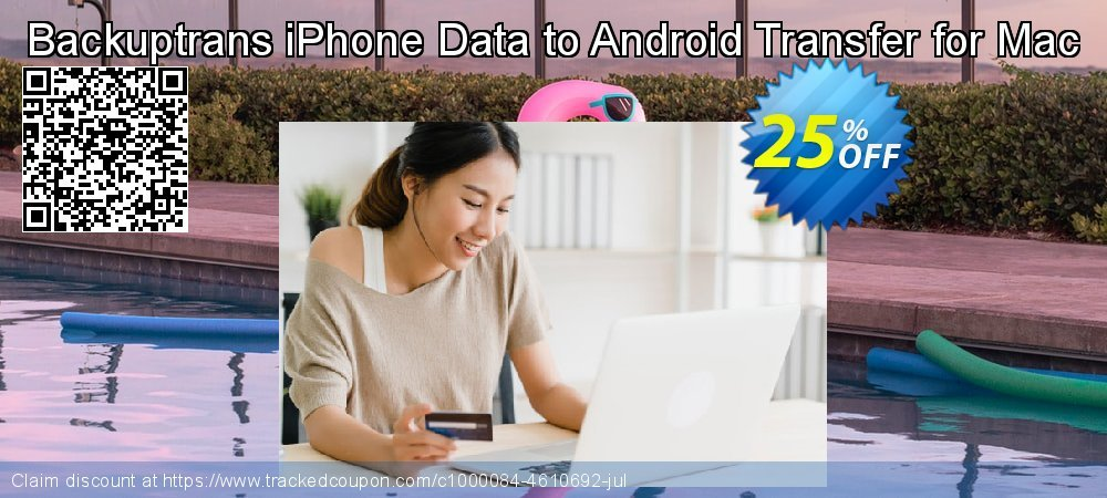 Backuptrans iPhone Data to Android Transfer for Mac coupon on April Fool's Day discounts