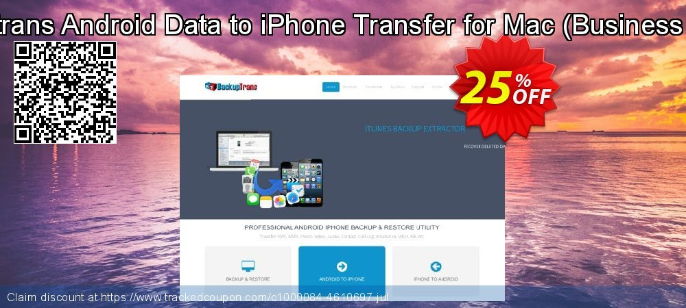 Backuptrans Android Data to iPhone Transfer for Mac - Business Edition  coupon on Black Friday deals