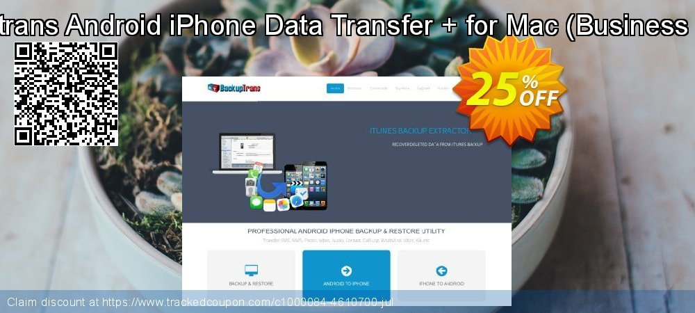 Backuptrans Android iPhone Data Transfer + for Mac - Business Edition  coupon on Thanksgiving offering discount