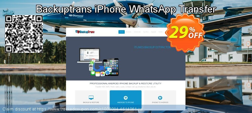 Backuptrans iPhone WhatsApp Transfer coupon on Black Friday promotions