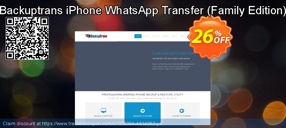 Backuptrans iPhone WhatsApp Transfer - Family Edition  coupon on Easter offer