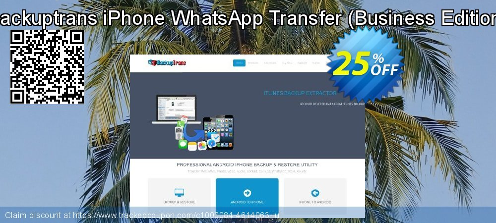 Backuptrans iPhone WhatsApp Transfer - Business Edition  coupon on Spring discount