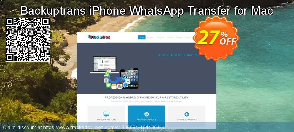 Backuptrans iPhone WhatsApp Transfer for Mac coupon on April Fool's Day offering discount
