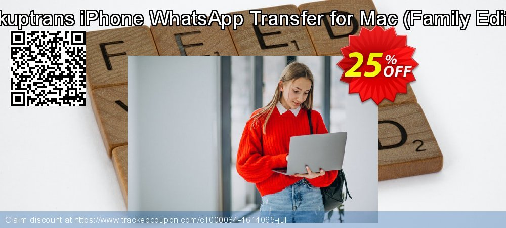 Backuptrans iPhone WhatsApp Transfer for Mac - Family Edition  coupon on Black Friday discount