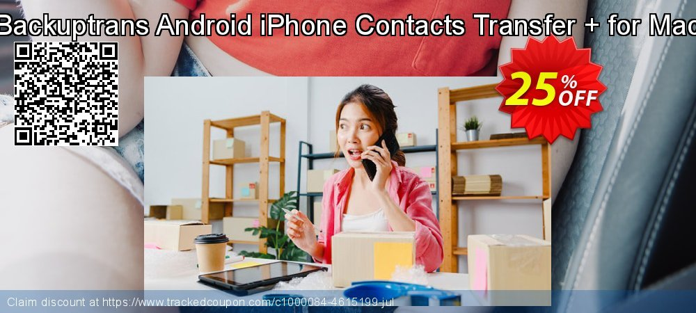 Backuptrans Android iPhone Contacts Transfer + for Mac coupon on Black Friday discount