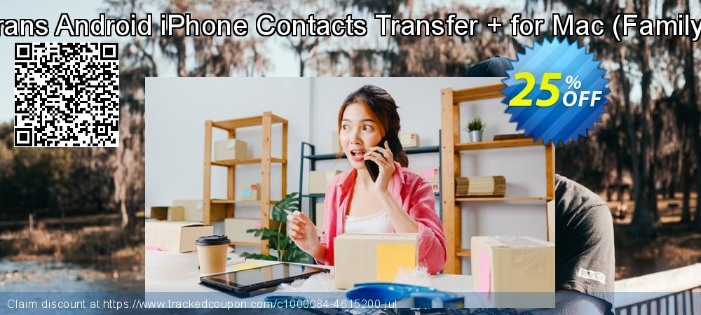 Backuptrans Android iPhone Contacts Transfer + for Mac - Family Edition  coupon on Xmas offering sales
