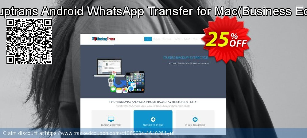 Backuptrans Android WhatsApp Transfer for Mac - Business Edition  coupon on Easter Sunday discounts