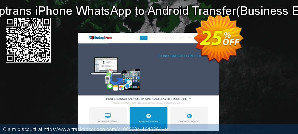 Backuptrans iPhone WhatsApp to Android Transfer - Business Edition  coupon on April Fool's Day deals