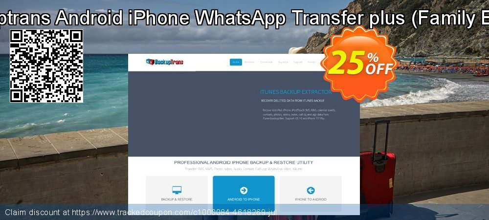Backuptrans Android iPhone WhatsApp Transfer plus - Family Edition  coupon on New Year's Day discount