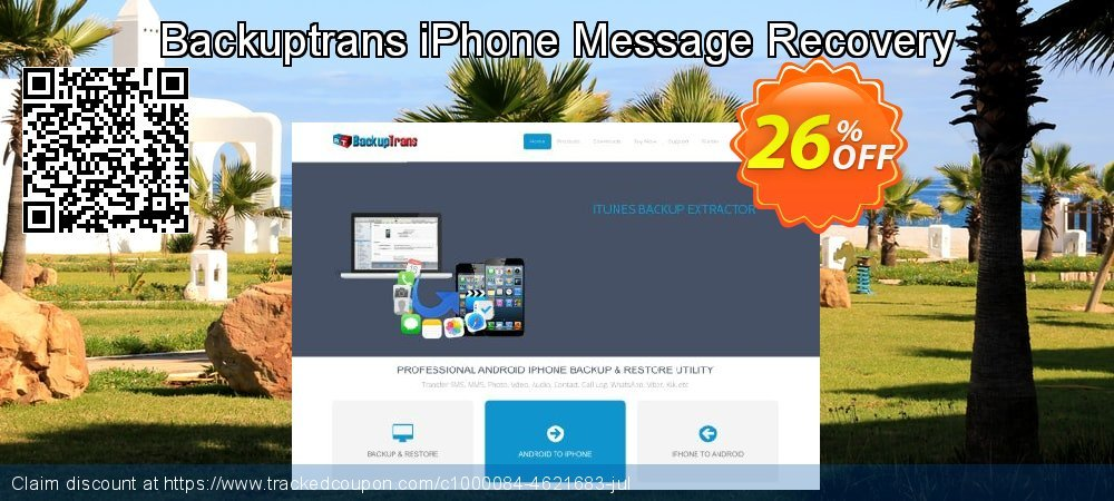 Backuptrans iPhone Message Recovery coupon on Black Friday discounts