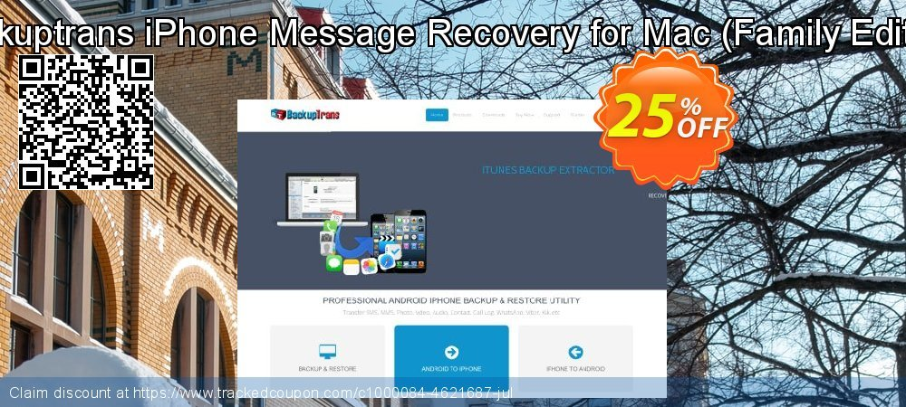 Backuptrans iPhone Message Recovery for Mac - Family Edition  coupon on Black Friday offer