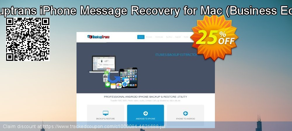 Backuptrans iPhone Message Recovery for Mac - Business Edition  coupon on April Fool's Day offering sales