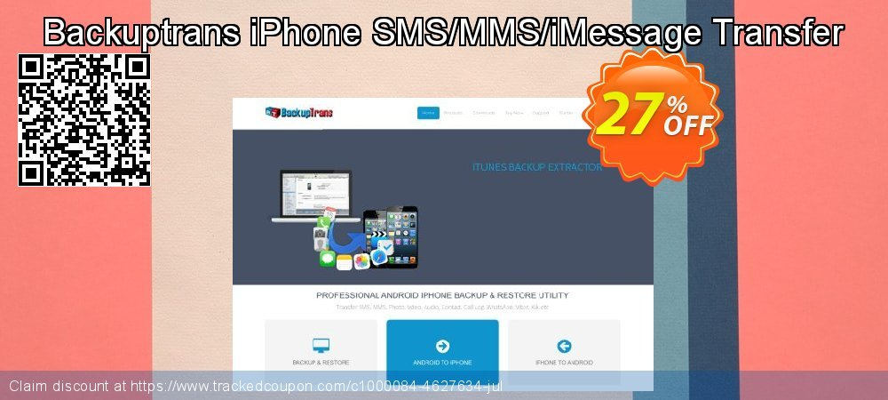 Backuptrans iPhone SMS/MMS/iMessage Transfer coupon on Easter offer