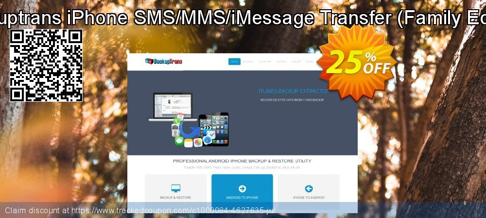Backuptrans iPhone SMS/MMS/iMessage Transfer - Family Edition  coupon on Black Friday deals