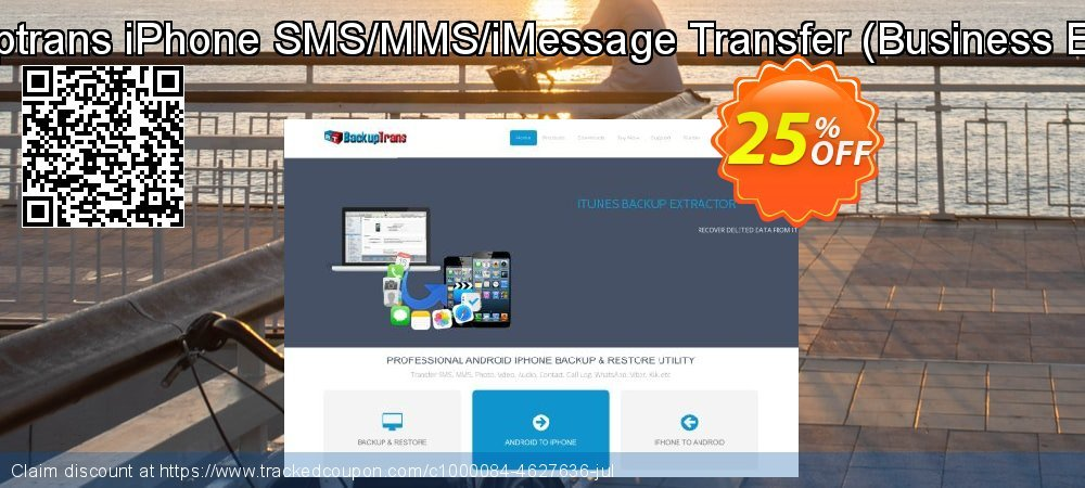 Backuptrans iPhone SMS/MMS/iMessage Transfer - Business Edition  coupon on Emoji Day discounts