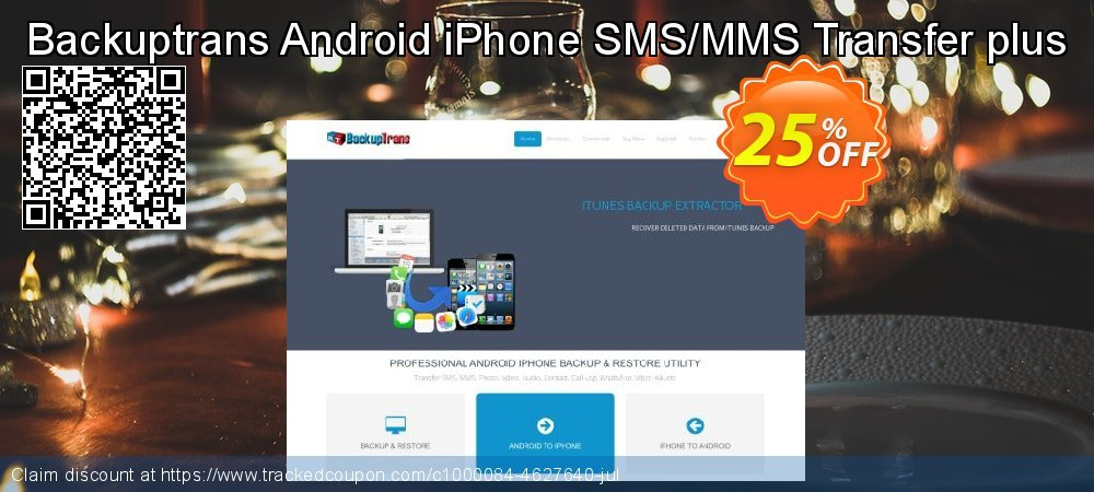 Backuptrans Android iPhone SMS/MMS Transfer plus coupon on April Fool's Day promotions