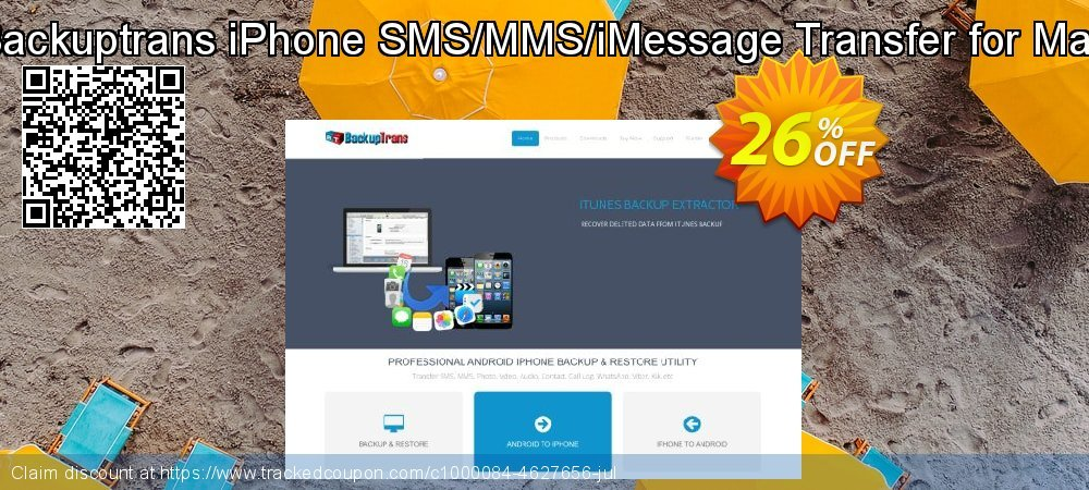 Backuptrans iPhone SMS/MMS/iMessage Transfer for Mac coupon on Thanksgiving offering discount