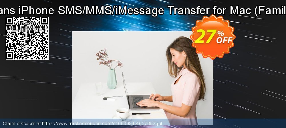 Backuptrans iPhone SMS/MMS/iMessage Transfer for Mac - Family Edition  coupon on Thanksgiving deals