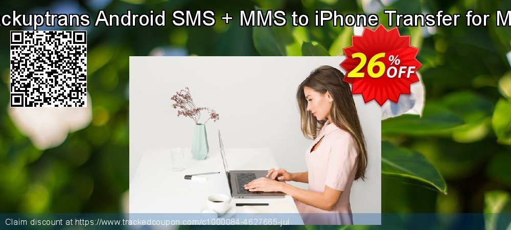 Backuptrans Android SMS + MMS to iPhone Transfer for Mac coupon on Easter Sunday super sale