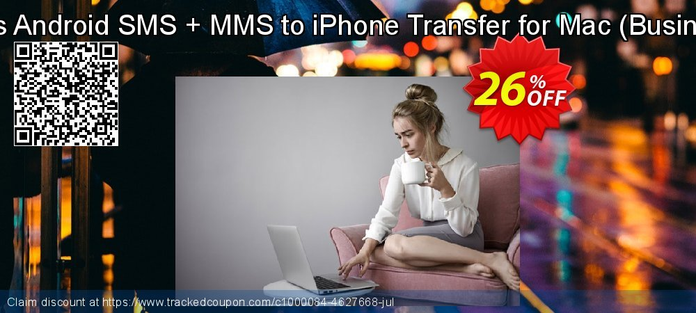Backuptrans Android SMS + MMS to iPhone Transfer for Mac - Business Edition  coupon on April Fool's Day sales
