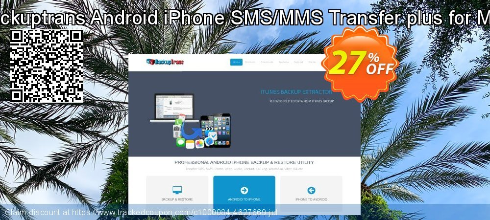 Backuptrans Android iPhone SMS/MMS Transfer plus for Mac coupon on Easter Sunday deals