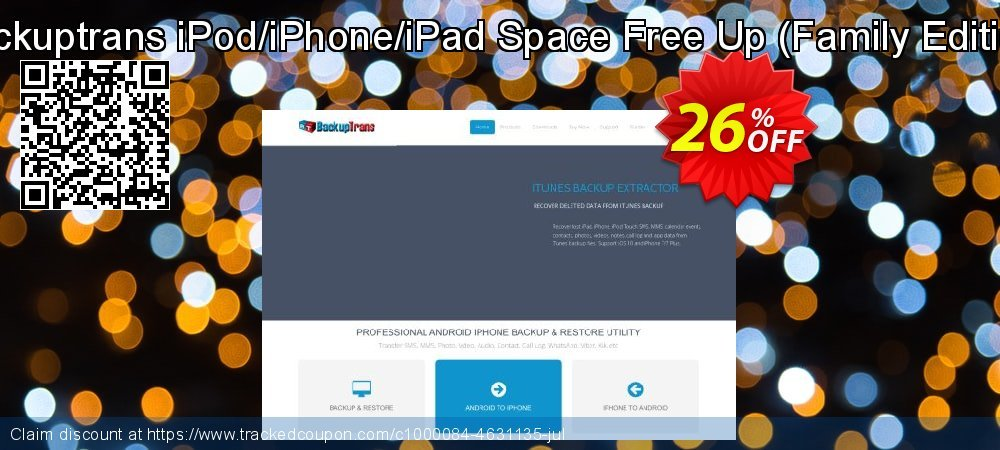 Backuptrans iPod/iPhone/iPad Space Free Up - Family Edition  coupon on Black Friday sales