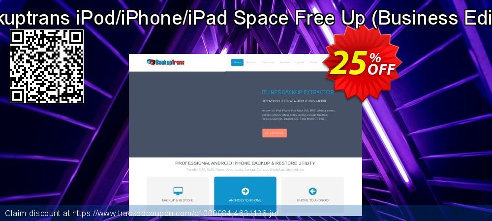 Backuptrans iPod/iPhone/iPad Space Free Up - Business Edition  coupon on April Fool's Day discount