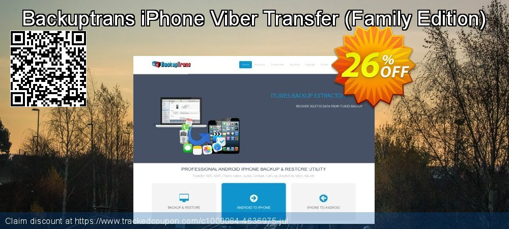 Backuptrans iPhone Viber Transfer - Family Edition  coupon on World Chocolate Day offering discount