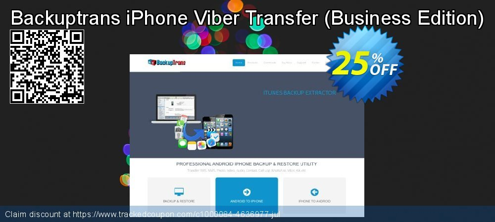 Backuptrans iPhone Viber Transfer - Business Edition  coupon on Int. Workers' Day offering discount