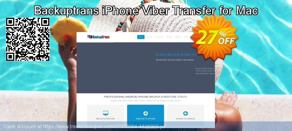 Backuptrans iPhone Viber Transfer for Mac coupon on April Fool's Day super sale