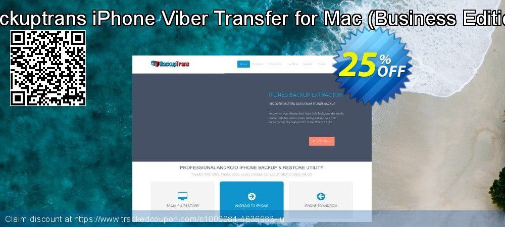 Backuptrans iPhone Viber Transfer for Mac - Business Edition  coupon on Spring sales