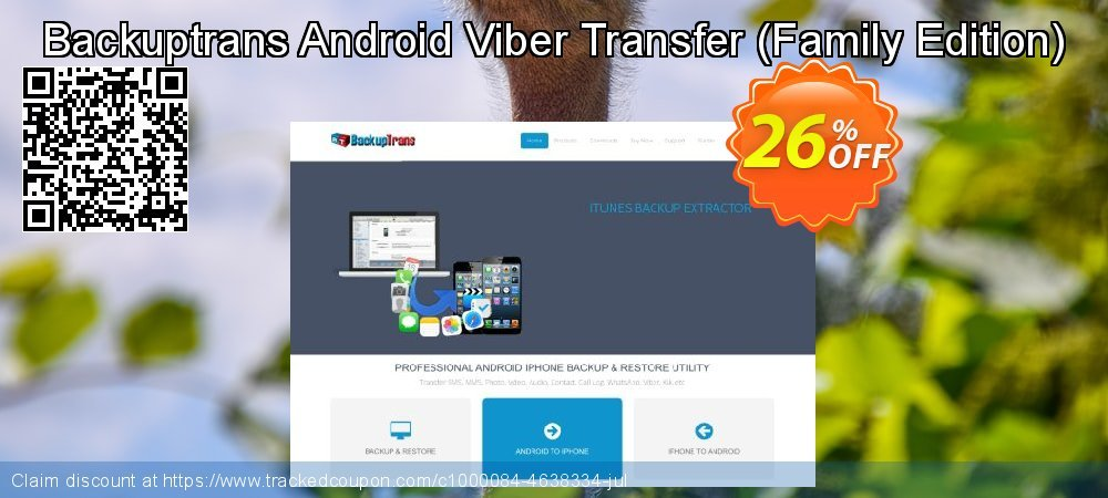 Backuptrans Android Viber Transfer - Family Edition  coupon on X'mas sales