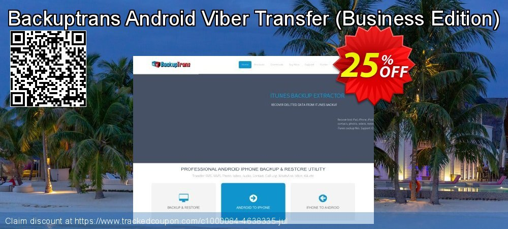 Backuptrans Android Viber Transfer - Business Edition  coupon on Emoji Day offering sales