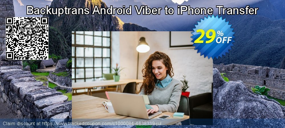 Backuptrans Android Viber to iPhone Transfer coupon on Spring super sale