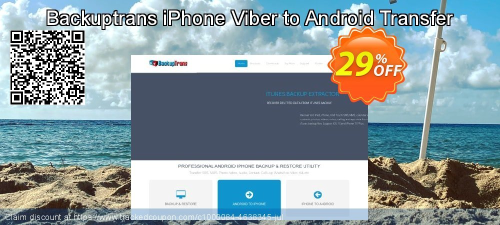 Backuptrans iPhone Viber to Android Transfer coupon on World Population Day super sale