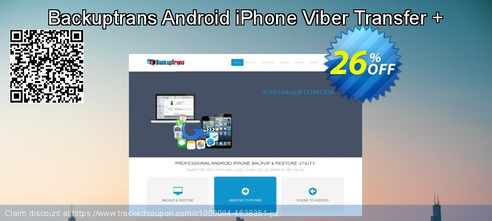 Backuptrans Android iPhone Viber Transfer + coupon on National Bikini Day discount