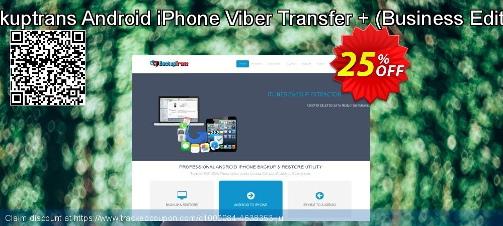 Backuptrans Android iPhone Viber Transfer + - Business Edition  coupon on World Chocolate Day offering sales