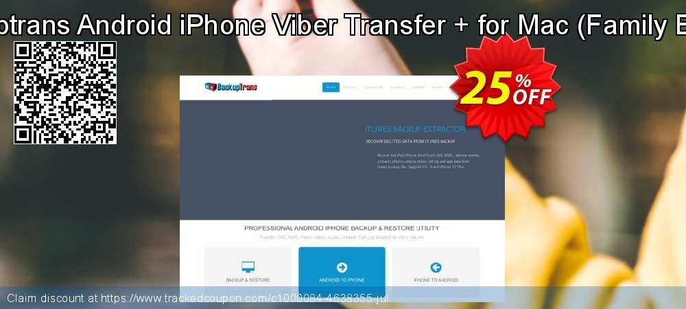 Backuptrans Android iPhone Viber Transfer + for Mac - Family Edition  coupon on World UFO Day discounts