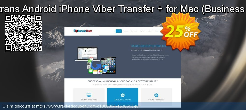 Backuptrans Android iPhone Viber Transfer + for Mac - Business Edition  coupon on April Fool's Day offering sales
