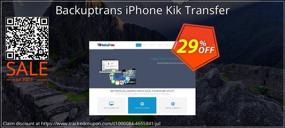 Backuptrans iPhone Kik Transfer coupon on Black Friday deals