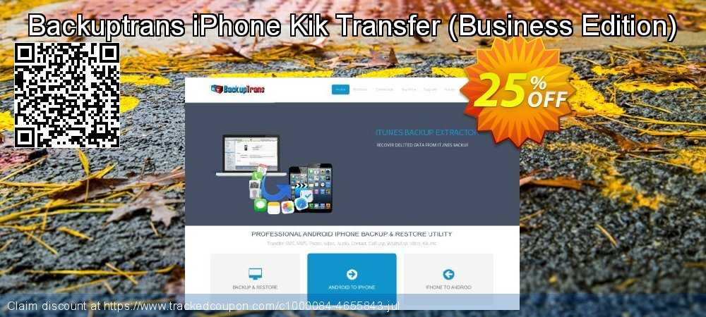 Backuptrans iPhone Kik Transfer - Business Edition  coupon on World Population Day promotions