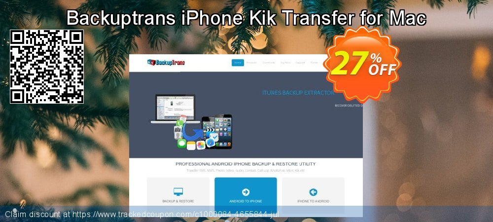 Backuptrans iPhone Kik Transfer for Mac coupon on April Fool's Day super sale